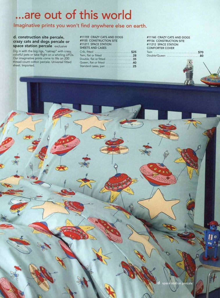 Children percale bedding